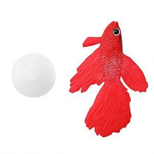 Aquarium Bol De Poisson en Plastique De Natation Poisson Or Betta Poisson Drôle Artificielle en Silicone Petit Poisson Réaliste Faux Poisson Fish Tank Décoration Ornements(Betta Rouge) (Otoleeleu, neuf)