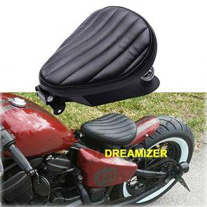 Selle Moto, Coussin de Siège Moto, confortable selle arrière de moto noire pour Sportster XL1200 883 48 Forty Eight Fatboy Softtail Dyna Street Glide (EU-YD TOP SHOW, neuf)