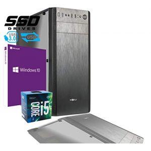 Ordinateur de Bureau Intel i5 7400 3,50 GHz/Graphique Intel HD 630/8 Go DDR4 / Licence Windows 10 Pro/SSD 480 Go/PC assemblé PC Fixe de Bureau Maison Complet HD prêt à l'emploi USB 3.0 Boîtier ATX (RGDIGITAL, neuf)