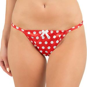 Satini Mesdames Belle Satin à Pois Culotte Bikini (Rouge, XL) (BlackButterfly Clothing, neuf)