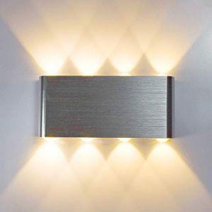 Lampop Lampe Murale LED 8w Moderne Aluminium LED Applique Murale Interieur Éclairage Mural Applique Murale Lumières pour Cuisine Escalier Chambre Couloir Salon Les Lampes de Nuit (Blanc Chaud) (Lampop, neuf)