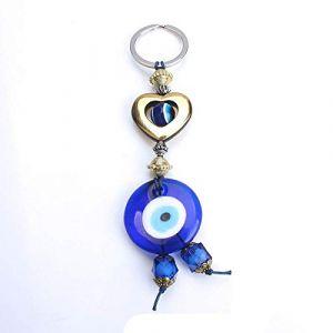 Coeur porte-clés verre voiture porte-clés fleur porte-clés pour femmes hommes bijoux 3 (Gendaje, neuf)
