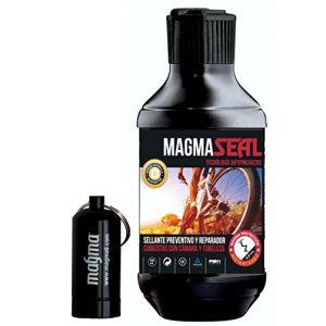 Liquide Anti-Crevaison MagmaSeal 250 ml - Produit Anti-Crevaison Préventif et Réparateur - Protection Tubeless et Chambre à Air. Inclus un étui étanche. (Magma6, neuf)