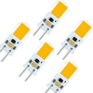 7117 Dernière Ampoule LED G6.35 GY6.35 LED 4W 12V Haute Luminosité équivalente Lampe Halogène de 40 Watts Blanc Chaud 3000K (5-Packs) (7117, neuf)