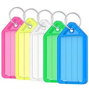 Uniclife 15 étiquettes d'étiquette d'étiquette de clé PCS Tags de porte-clés de couleur avec fenêtre d'étiquette, couleurs assorties (Uniclife EU, neuf)