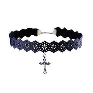 Retro Croix Fille Collier Clavicule Belle ornement de cou Nice cadeau (Black Temptation UK, neuf)