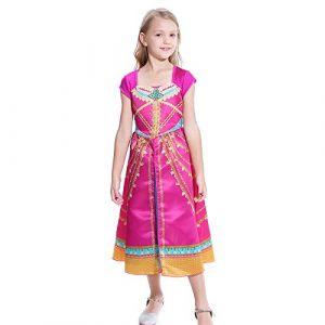 Lito Angels Déguisement de Princesse de Haute Qualité Robe Arabe de la Fille du Sultan pour Enfant Fille Rose 10-11 Ans (Lito Angel, neuf)
