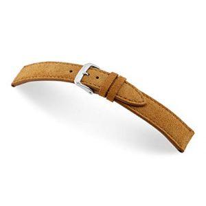 RIOS1931 Franklin 20mm Vintage Suede Leather Bracelet de Montre Fait Main en Allemagne Classique Marron Clair (Sammlerparadies, neuf)