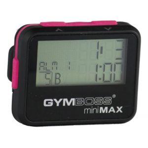 Gymboss miniMAX Minuteur d'intervalle et chronomètre – Coque noir/rose softcoat (Gymboss EU, neuf)
