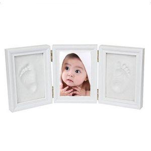 Leisial Cadre de Photo en bois et Argile pour Enregistrer toujours Bébé Empreinte Handprint Bébé Cadeaux de naissance et souvenirs (LeiGod, neuf)