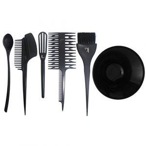 Beaupretty Kits de coloration des cheveux bricolage mélange de couleur de cheveux Brosse de couleur de cheveux outil de teinture pour cheveux, 6pcs (Ansuen, neuf)