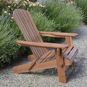 Adirondack Fauteuil de jardin pliable en bois de haute qualité (Garden & Home 1, neuf)