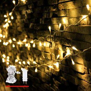 Guirlande Lumineuse, de myCozyLite®, 200 LED, Blanc Chaud, Lumières de Noël Décoratives pour Intérieur et Extérieur, Transformateur Basse Tension avec Minuterie. 20 Mètres (theLightHouse, neuf)