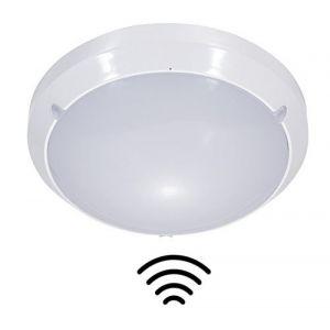 Cliquez pour ouvrir le point de vue élargi Lampe LED avec détecteur de mouvement HF pour intérieur et extérieur, Applique murale et plafonnier, IP65, 16 W, 1150LM, 4000 K (zeyun licht, neuf)
