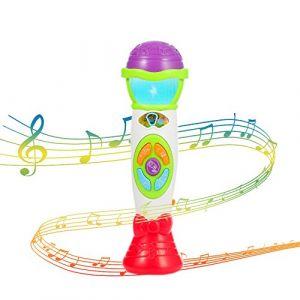 Twister.CK Kids Microphone Voice Toy, Toddler Music Toys Microphone - Record Baby Babil Rattle Playback avec Jouet de Noël Musical coloré karaoké de lumière (Vert) (Lvlo, neuf)