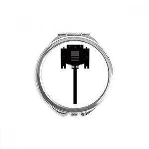 DIYthinker ecran noir miroir rond câble allume-cigare de maquillage de poche à la main portable 2,6 pouces x 2,4 pouces x 0,3 pouce Multicolore (bestchong, neuf)