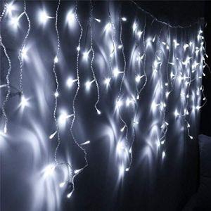 Hengda Led Extérieur,400 LED Guirlande Lumineuse 8 Modes pour Jardin, Terrasse, Cour, Maison, Arbre de Noël, Fête Party Intérieur Extérieur Décoration(Blanc Froid) (QingShanLvShui, neuf)