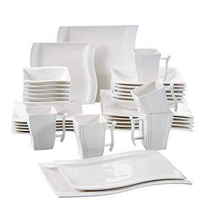 MALACASA Série Flora, 32pcs Service de Table Porcelaine pour 6 Personnes (BEAUTY NATURE  LIMITED, neuf)