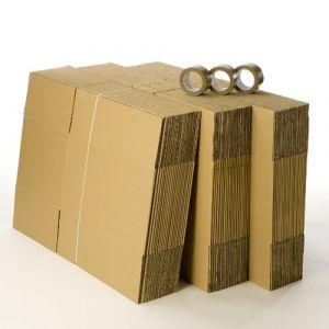 Kit 60 cartons déménagement standard avec 3 rouleaux d'adhésif gratuits (CartonsDeDemenagement com, neuf)