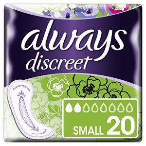 Always Discreet Small Lot de 2 paquets de protège-slips pour fuites urinaires légères
