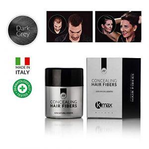 K-Max 10 G GRIS FONCE Poudre de Cheveux 100% Naturelle – Donne du Volume, Masque l'alopécie (JeVeuxMesCheveux, neuf)