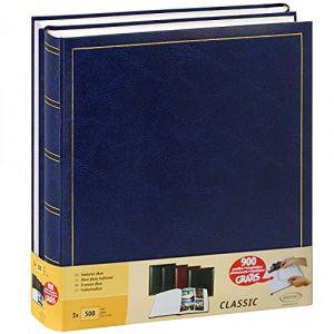 Lot de 2 Albums Traditionnels Jumbo 100 Pages pour 500 Photos 10x15 - Bleu (LC-Distribution, neuf)