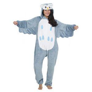 CityComfort Combinaison Pyjama Femme Kigurumi Onesie Ensemble Pyjama Licorne Cosplay Costume d'animal Super Doux et Confortable Grenouillère pour Fête, Déguisement (S, Hibou) (F &F Stores, neuf)