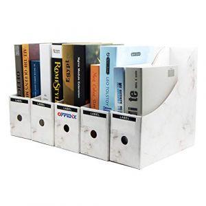 OFFIDIX 5 niveaux Kraft papier boîte de rangement de bureau A4 porte-documents tiroir organisateur de papier pour le bureau à domicile bricolage papier conteneur boîte de stockage de fichiers (Blanc) (Offidirect, neuf)