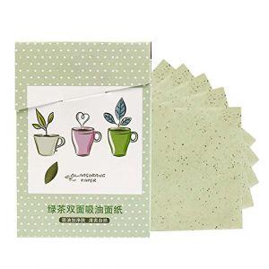 papier buvard de contrôle d'huile d'été papier buvard de thé vert 300 feuilles (Koala Superstore EURO, neuf)