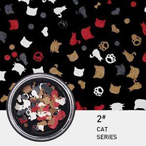 KISSION Nail Art Décorations De Paillettes Couleurs Flocons Nail Kit 3D Paillettes Manucure DIY Nail Art Kit, Film Stickers Paillettes Sequin DIY Outils De Décoration (2#) (Lucktar, neuf)