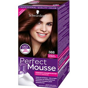 Schwarzkopf Perfect Mousse Permanente Schaumcoloration, 388 Dunkles Rotbraun Stufe 3, 3er Pack (3 x 93 ml) (Care4Trade, neuf)