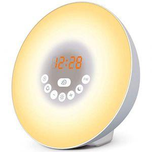 Simulateur d'aube pour un réveil lumineux tout en douceur - Dormez mieux avec le mode Nuit Noire - Vivez des matins plus zen - Réveil luminothérapie (Classique TL-850) (Top Life, neuf)