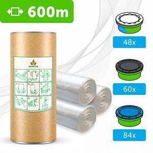 600 M. - ECO Recharge de poubelle à couches Sangenic | Angelcare | Litière Litter Locker II | Recharge équivalente à 48 Recharges Sangenic | Tube en carton pour faciliter la Recharge | 100% Compatible (LA BOUTIQUE FR., neuf)