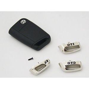 Capuchon Pour Clé GTD / GTI / r Original VW Chrome / Noir capuchon Clés de voiture - GTI (Autohaus Koller Wolfsburg, neuf)