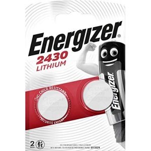 LOT DE 2 PILES ENERGIZER CR2430 - 1 BLISTER DE 2 - LITHIUM 3V (P & F France, neuf)
