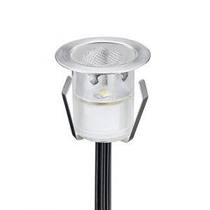 1 LED Spot Encastrable Extérieur - Mini spot encastré de Ø30mm Eclairage Encastrables Extérieur pour Terrasse Enterre, IP67 Etanche DC12V Lumière Moderne pour Chemin Escalier Paysage(Multi-Couleur) (CHENXU, neuf)