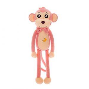 Peluche jouet singe lit dormir mignon mignon enfants chiffon poupée apaiser poupée oreiller cadeau d'anniversaire -2_85 cm (lizhaowei531045832, neuf)