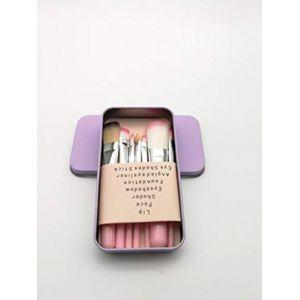 Boîte De Fer Noir 7 Pièces Ensemble Pinceau De Maquillage Mis Outils De Beauté Pinceau Pinceau Fard à Paupières (PsgLtd, neuf)
