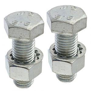 AB Tools-Maypole Barre de remorquage Paire/Boule ATTELAGE Long 45mm vis avec écrous et rondelles Haute RÉSISTANCE À LA (AB Tools Online, neuf)