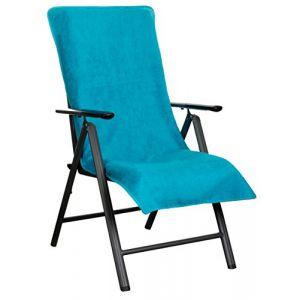 Brandsseller Trendwerk77 Housse de Protection en Tissu éponge 100% Coton pour Chaise de Jardin ou Chaise Longue Türkis (brandsseller, neuf)
