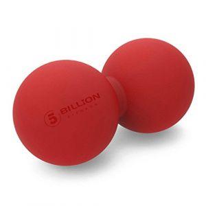 5BILLION Balle Massage Double Massage Ball - Balle Lacrosse & Boule de Massage pour Massage Dos - Outil Massage pour Physiotherapie (Rot) (5BIllion FItness, neuf)