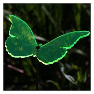Vitrail motif papillon 14 cm en acrylique transparent avec neon fluorescent pour offrir barre de couleur 60 cm suncatcher - neonorange (bütic de, neuf)