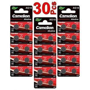LOT en Paquet 30 Piles Bouton alcaline LR1130 AG10 Liseuses, Montres, calculatrices, caméras, pointeurs sans Mercure (ALPEXE France, neuf)