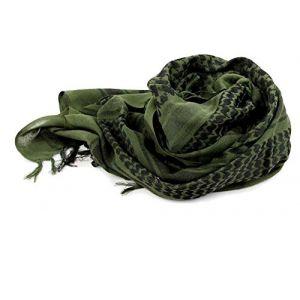 Style Militaire Arab Keffieh Tactique Desert Écharpe, Cou Tête Souple Confortable Écharpe Green (Vivistore, neuf)