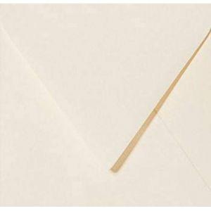 25 enveloppes 11 x 11 cm 110 x 110 mm/crème (Briefumschläge24plus, neuf)