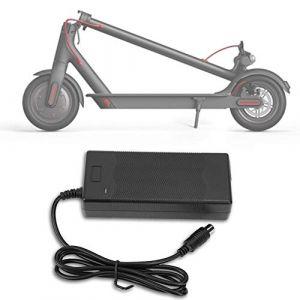 Tbest 42V 2A Chargeur Adaptateur pour Scooter Électrique Pièces Chargeur de Batterie Accessoires pour Xiaomi Mijia et Ninebot Scooter Électrique Cyclomoteur ES1/ES2/2S3/ES4(EU 220V) (Youluu-cd, neuf)