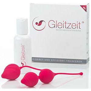Kit de musculation du vagin et du plancher pelvien PREMIUM de Gleitzeit fourni avec du gel lubrifiant (ALECUR, neuf)