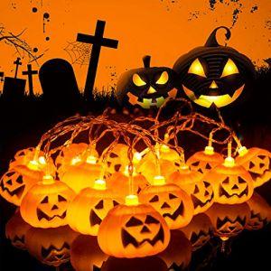 Herefun Halloween Guirlande Lumineuse, 3M 20LEDs Décoration de Halloween Guirlande Lumineuse, Halloween Décoration de Fête Pumpkin Guirlande Halloween Décorations (Herefun, neuf)