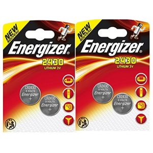LOT DE 4 PILES ENERGIZER CR2430 - 2 BLISTER DE 2 - LITHIUM 3V (P & F France, neuf)