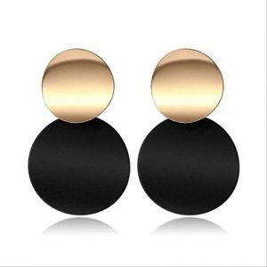 Boucles d'oreilles pour femmesBoucles d'oreilles pour femmesBoucles d'oreilles Acrylique Géométrique Rouge Dangle Boucle d'oreille Mariage BrincoNoir 2 (Graceguoer, neuf)